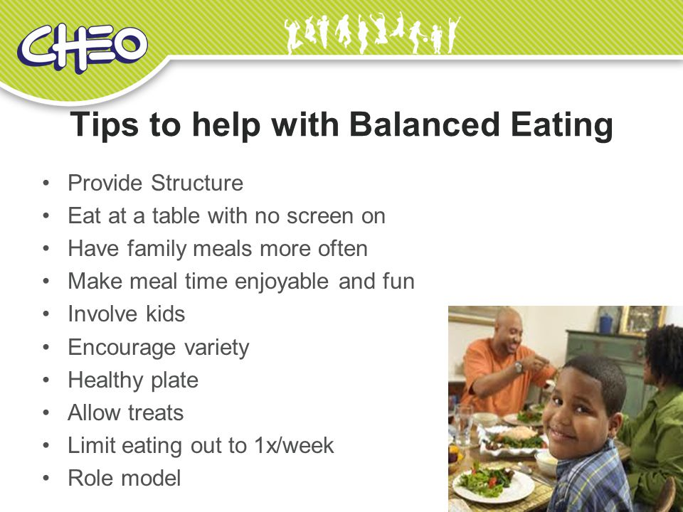 Tips to help with Balanced Eating