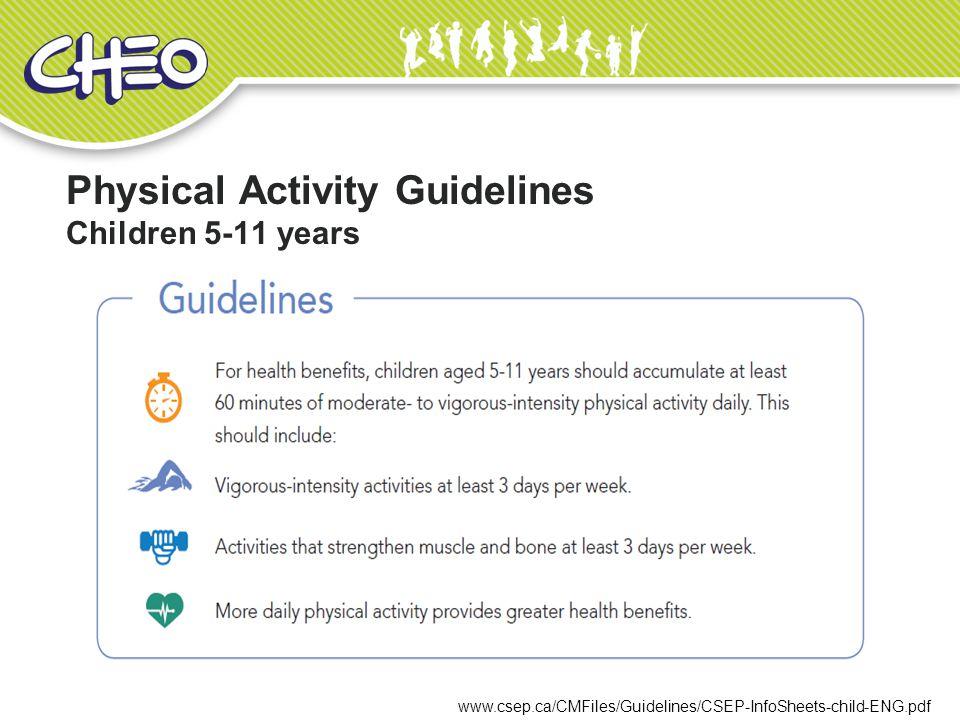 Physical Activity Guidelines Children 5-11 years