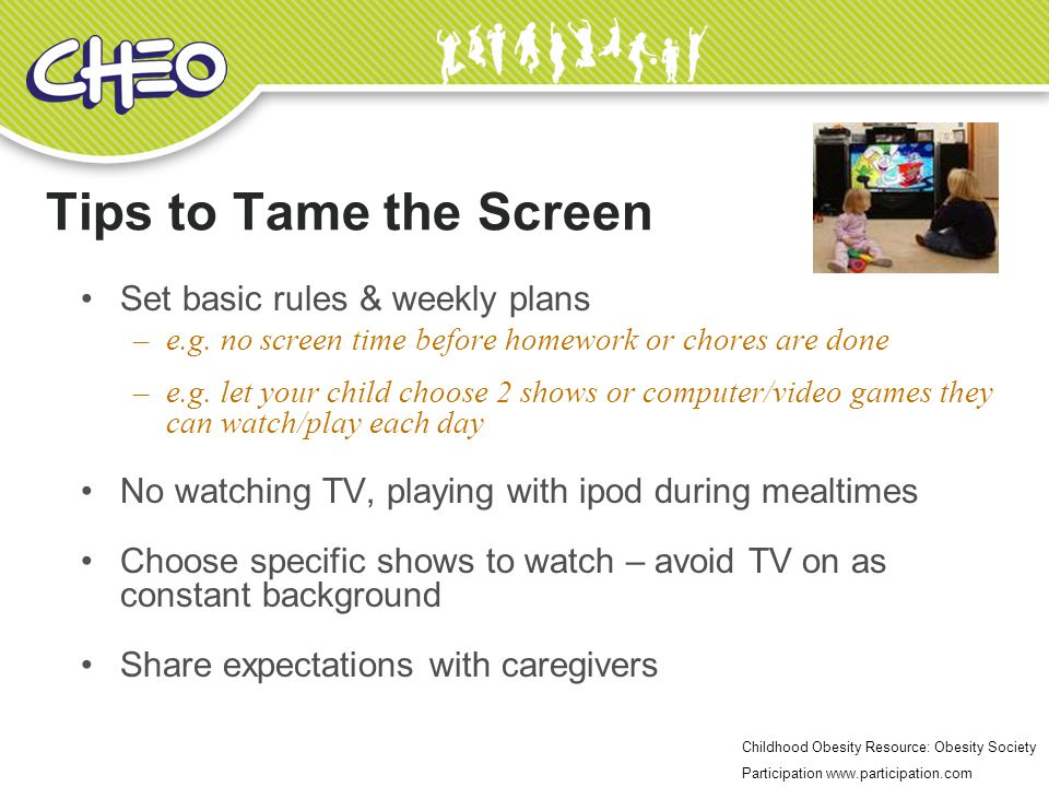 Tips to Tame the Screen Set basic rules & weekly plans