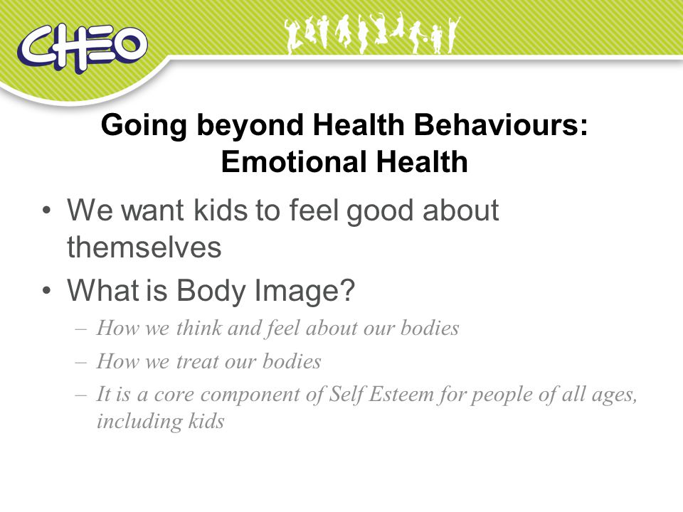 Going beyond Health Behaviours: Emotional Health