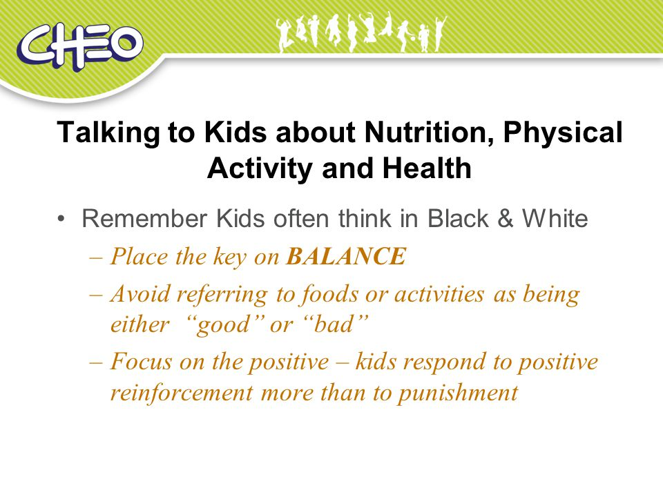 Talking to Kids about Nutrition, Physical Activity and Health