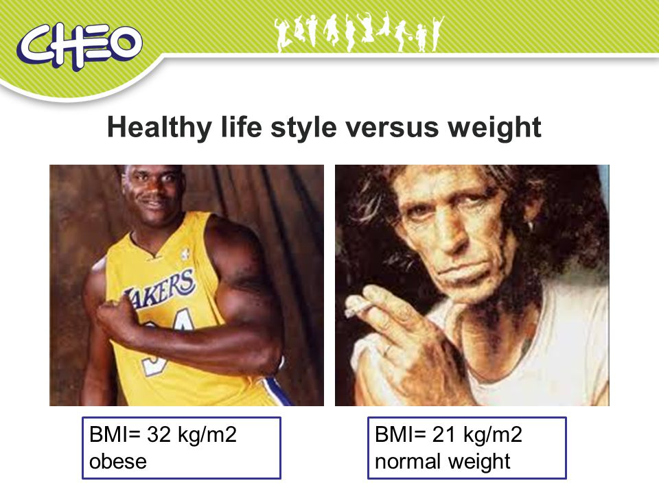 Healthy life style versus weight