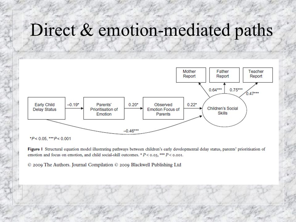 Direct & emotion-mediated paths