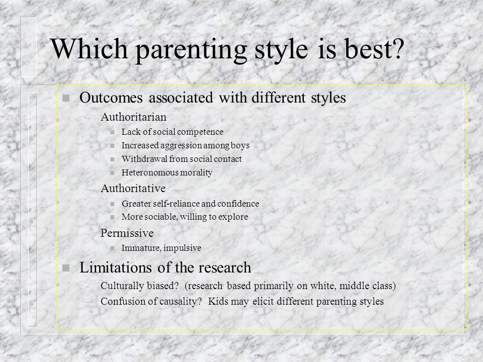 Which parenting style is best