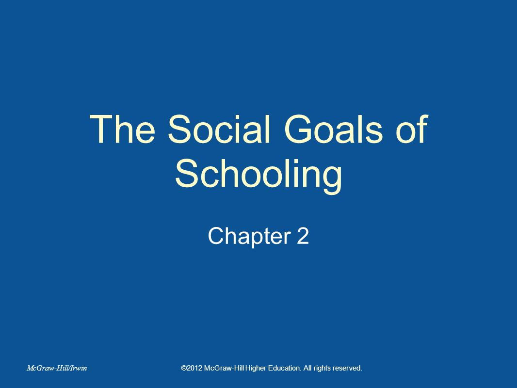 The Social Goals of Schooling
