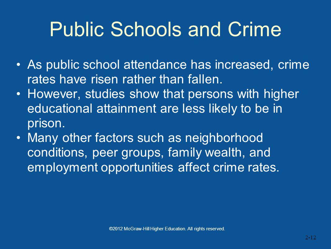 Public Schools and Crime