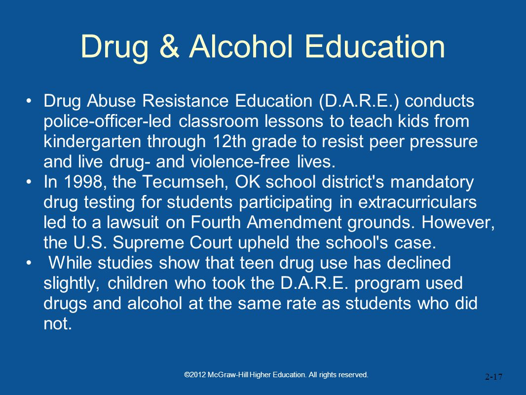 Drug & Alcohol Education