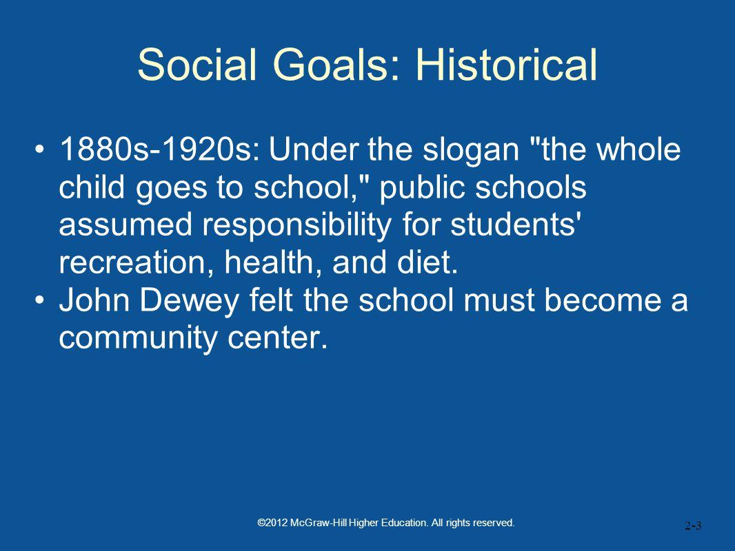 Social Goals: Historical