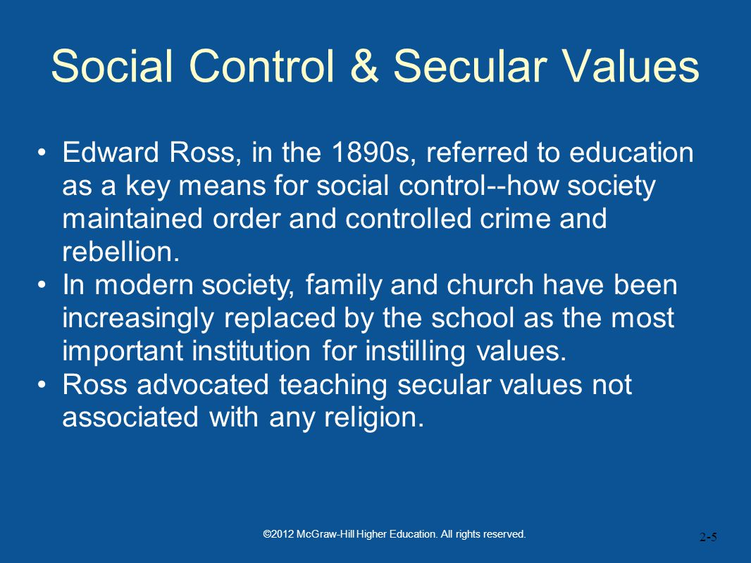 Social Control & Secular Values