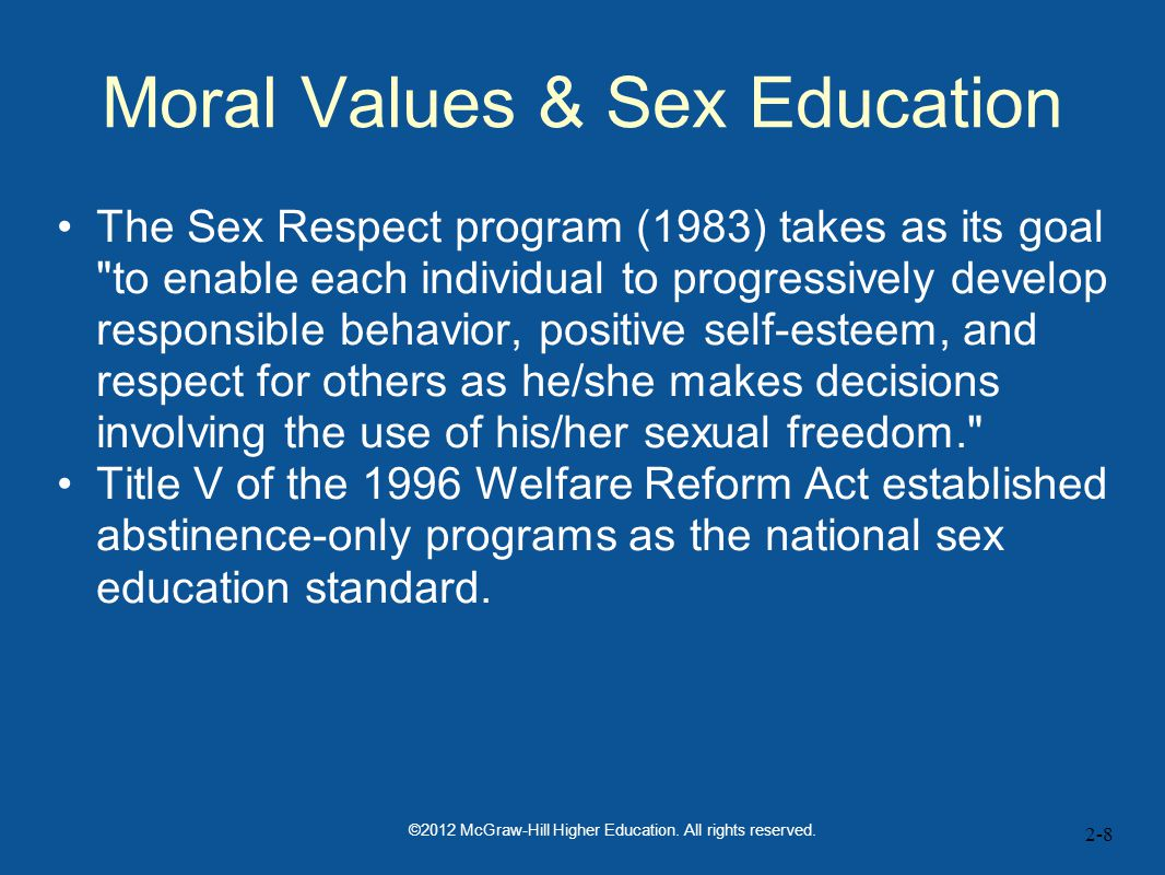 Moral Values & Sex Education