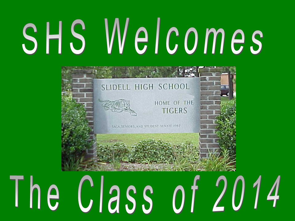 SHS Welcomes The Class of 2014