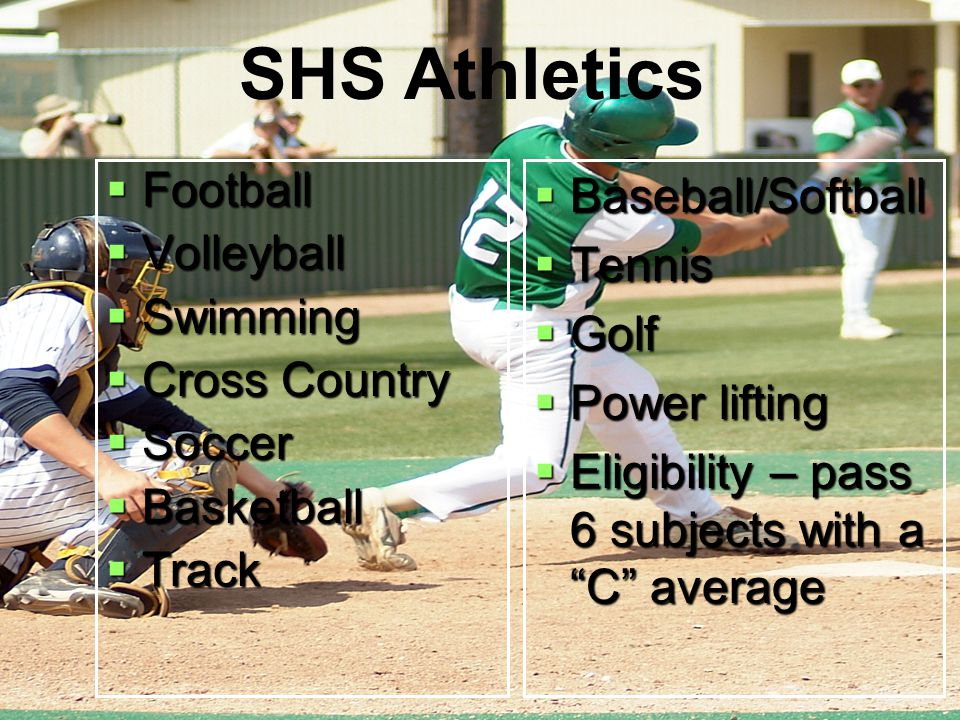 SHS Athletics Football Volleyball Swimming Cross Country Soccer