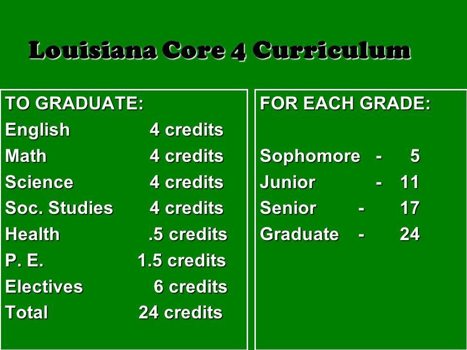 Louisiana Core 4 Curriculum