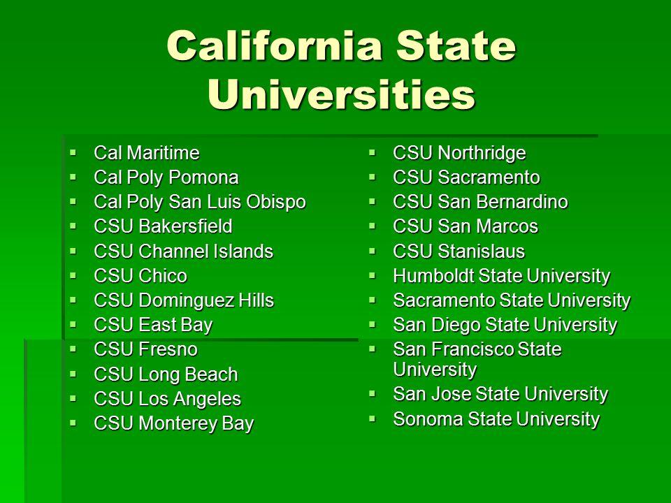 California State Universities
