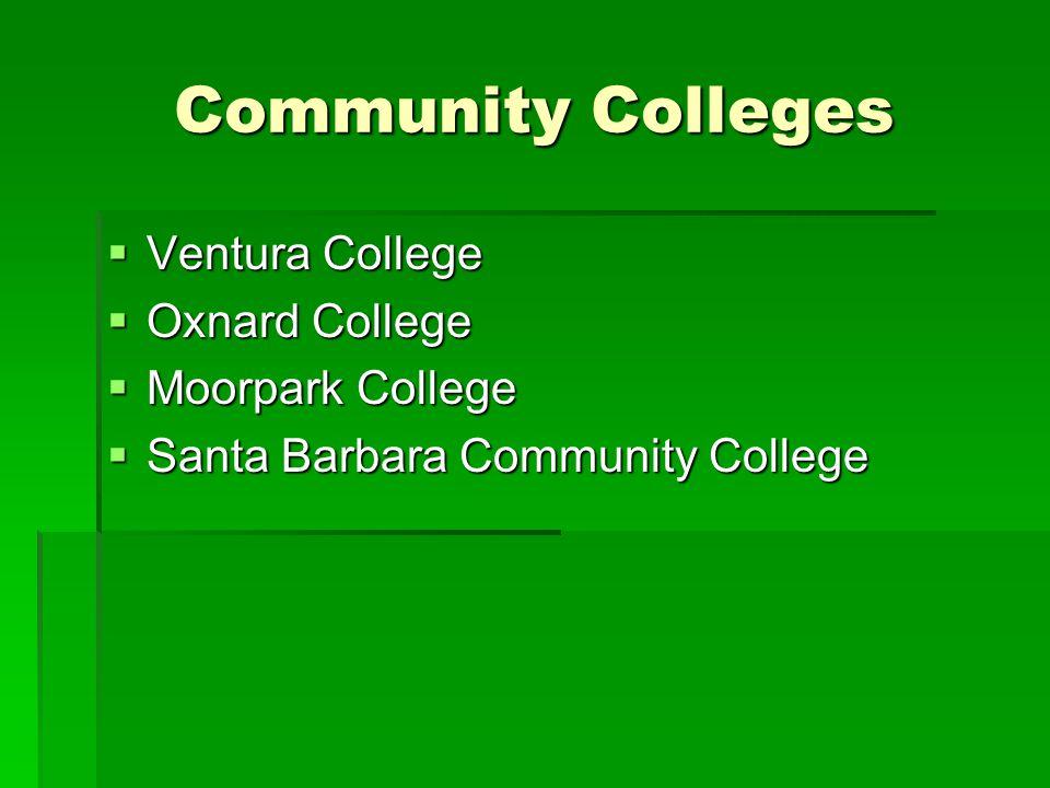 Community Colleges Ventura College Oxnard College Moorpark College