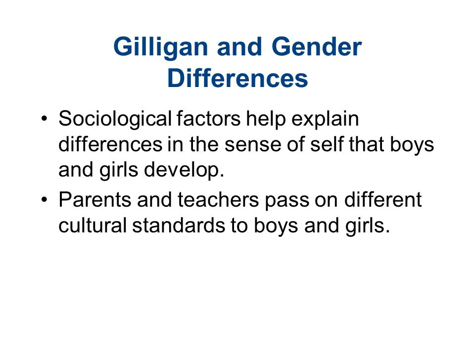 Gilligan and Gender Differences