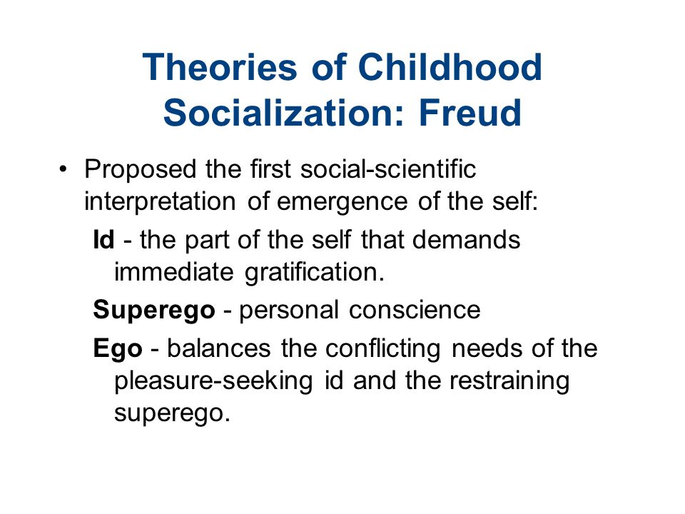 Theories of Childhood Socialization: Freud