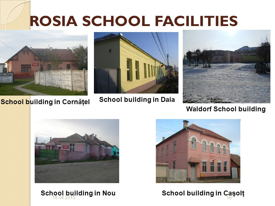 ROSIA SCHOOL FACILITIES