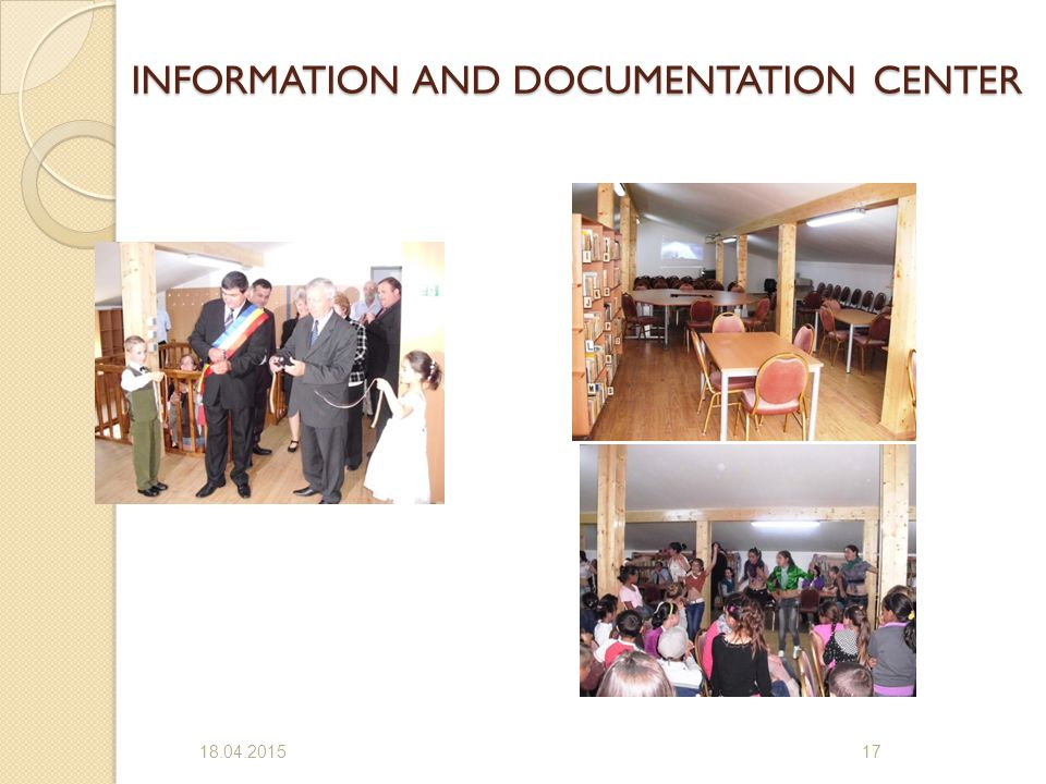 INFORMATION AND DOCUMENTATION CENTER