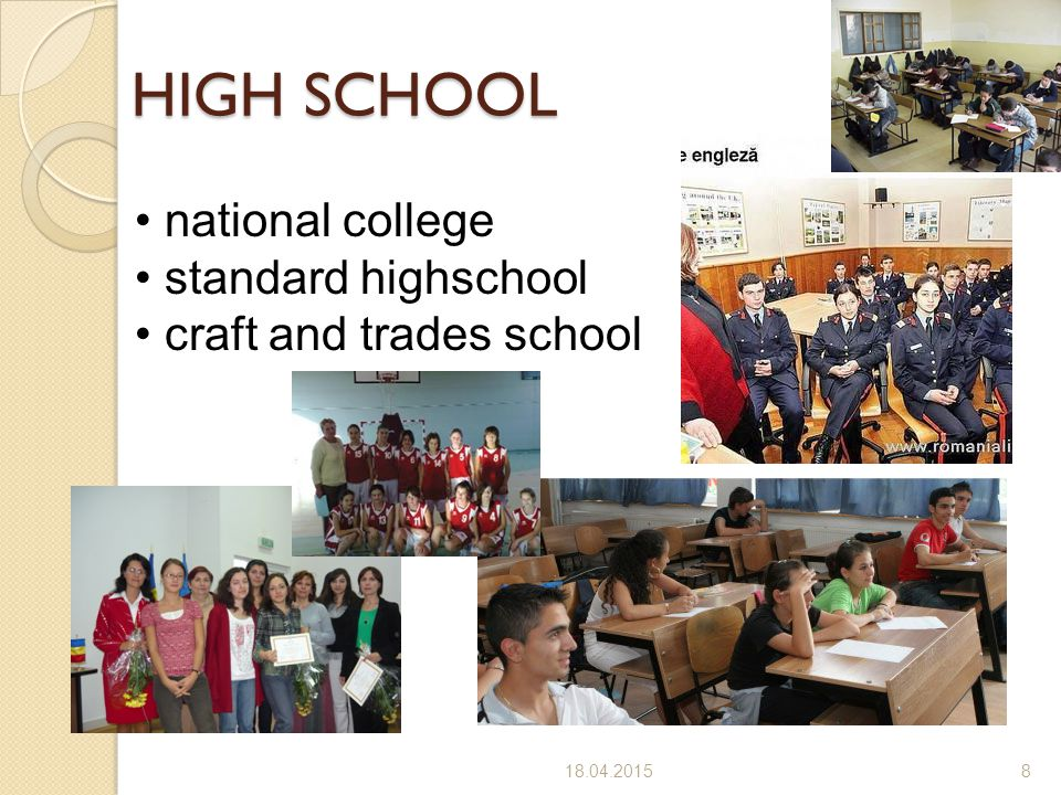HIGH SCHOOL national college standard highschool