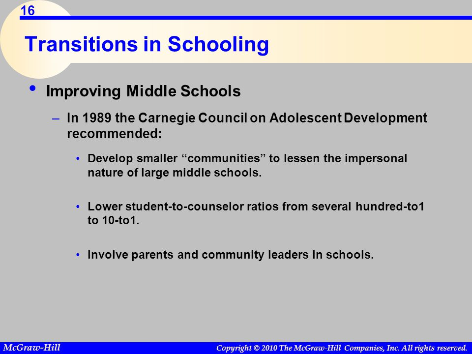 Transitions in Schooling