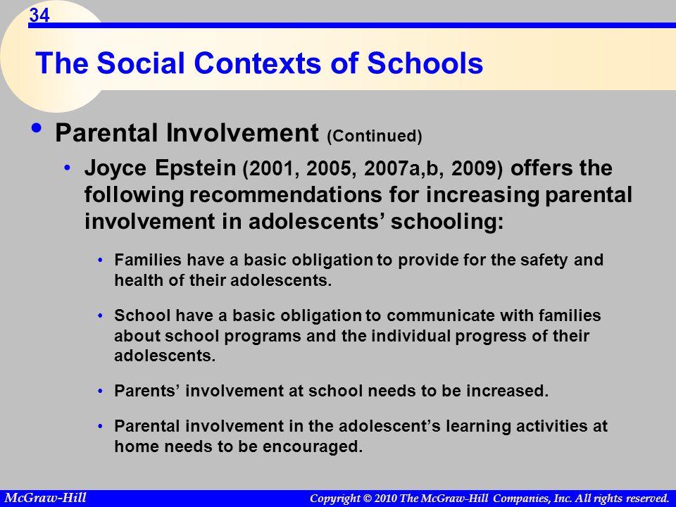 The Social Contexts of Schools