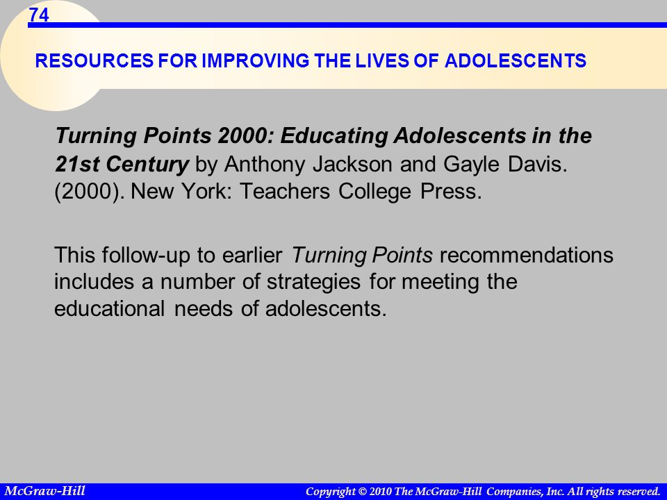 RESOURCES FOR IMPROVING THE LIVES OF ADOLESCENTS