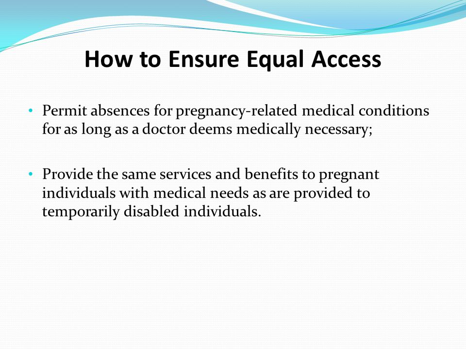 How to Ensure Equal Access