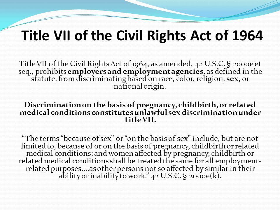 Civil rights act essay