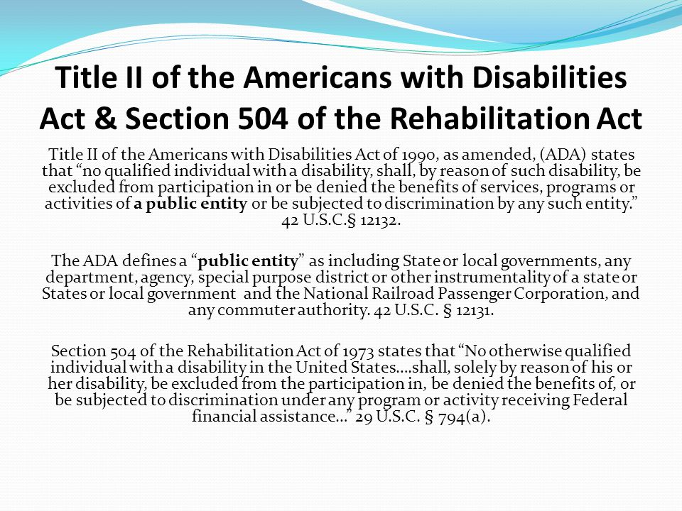 an analysis of the americans with disabilities act Summary: the department of justice (department) is issuing this final rule to amend its americans with disabilities act (ada) regulations in order to.