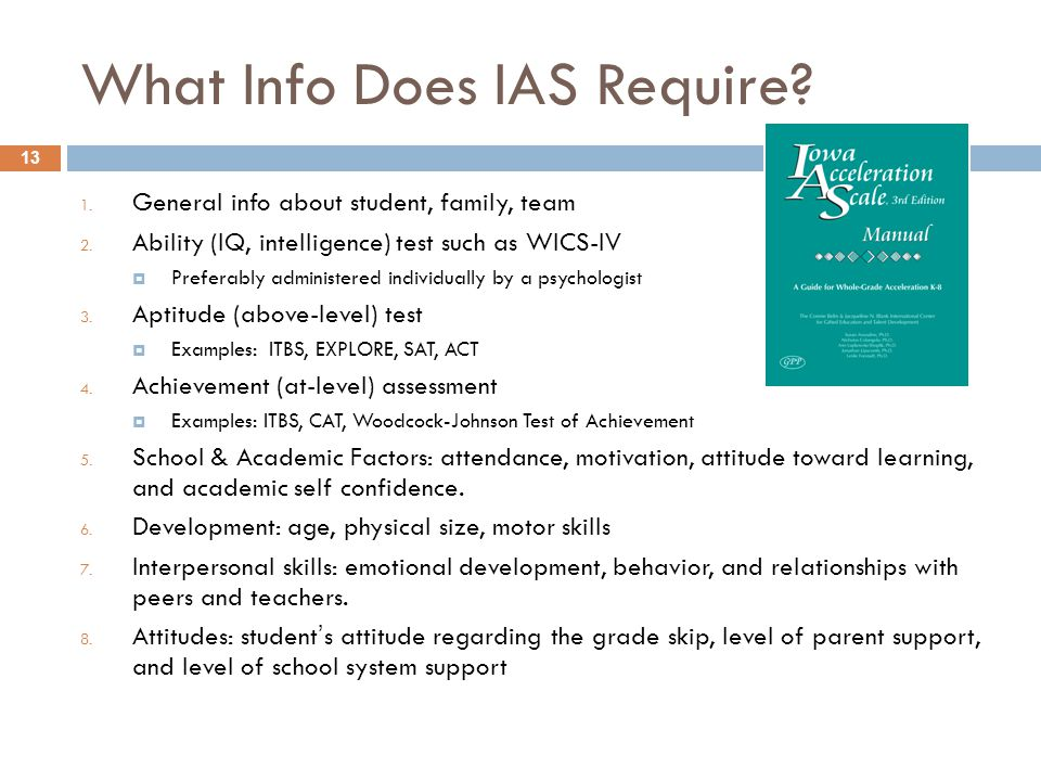 What Info Does IAS Require