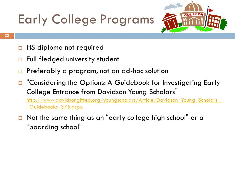 Early College Programs