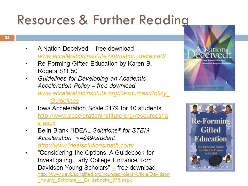 Resources & Further Reading