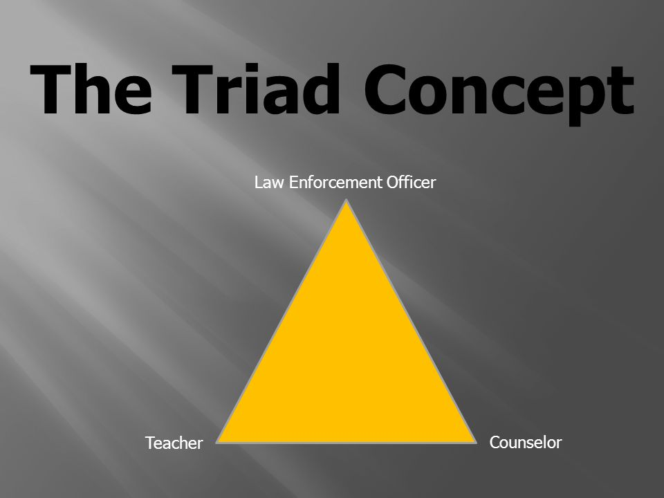 The Triad Concept Law Enforcement Officer Teacher Counselor