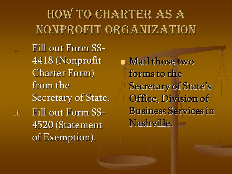 How to charter as a nonprofit organization