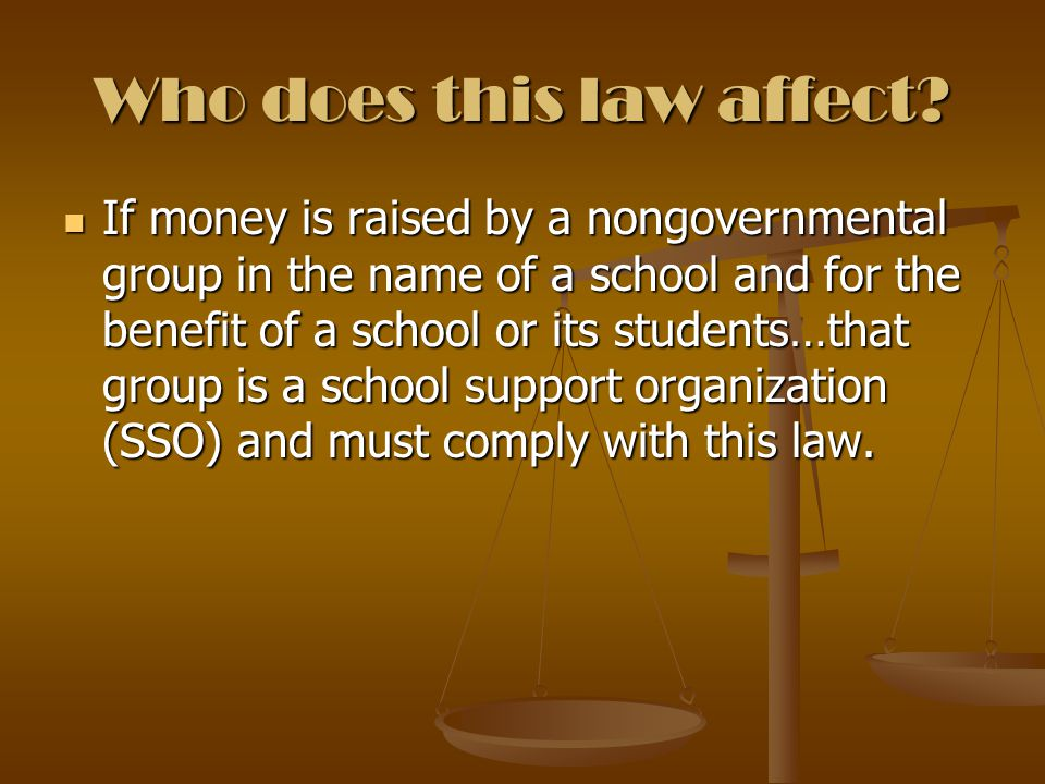 Who does this law affect