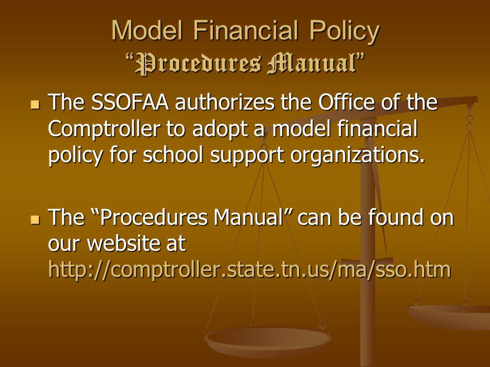 Model Financial Policy Procedures Manual