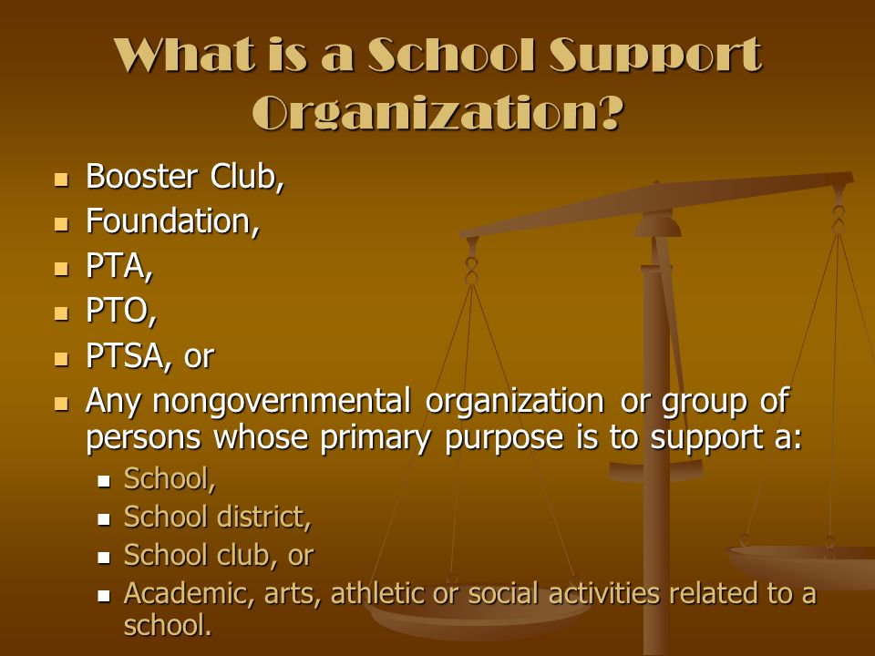 What is a School Support Organization