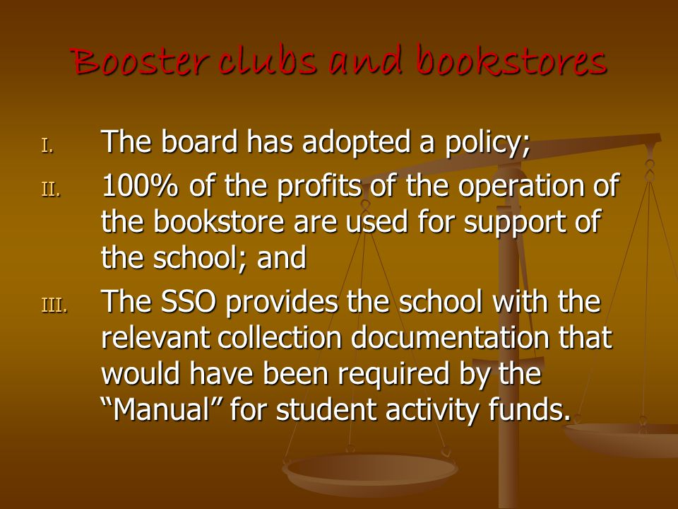Booster clubs and bookstores