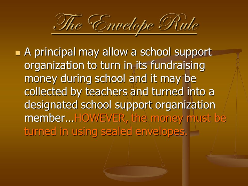 The Envelope Rule