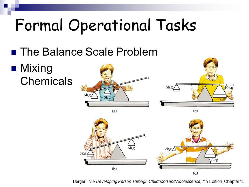 Formal Operational Tasks
