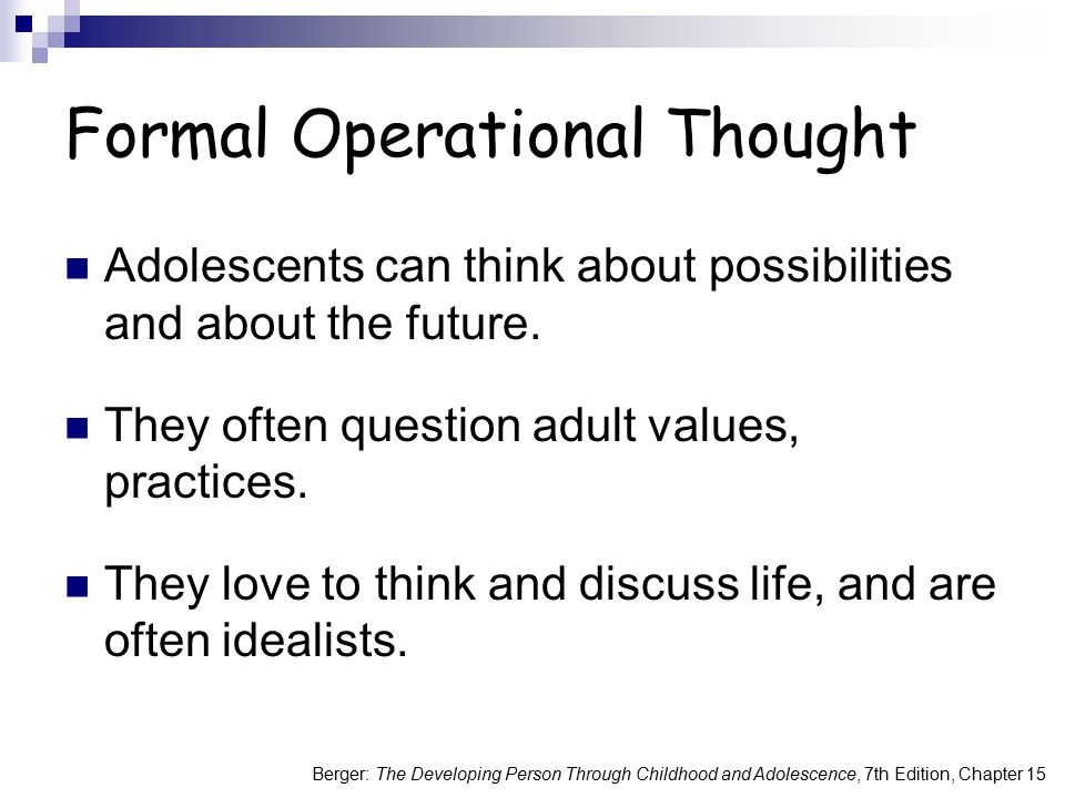 Formal Operational Thought
