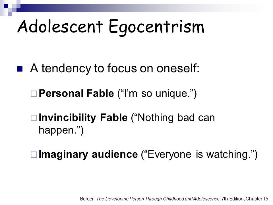 Adolescent Egocentrism