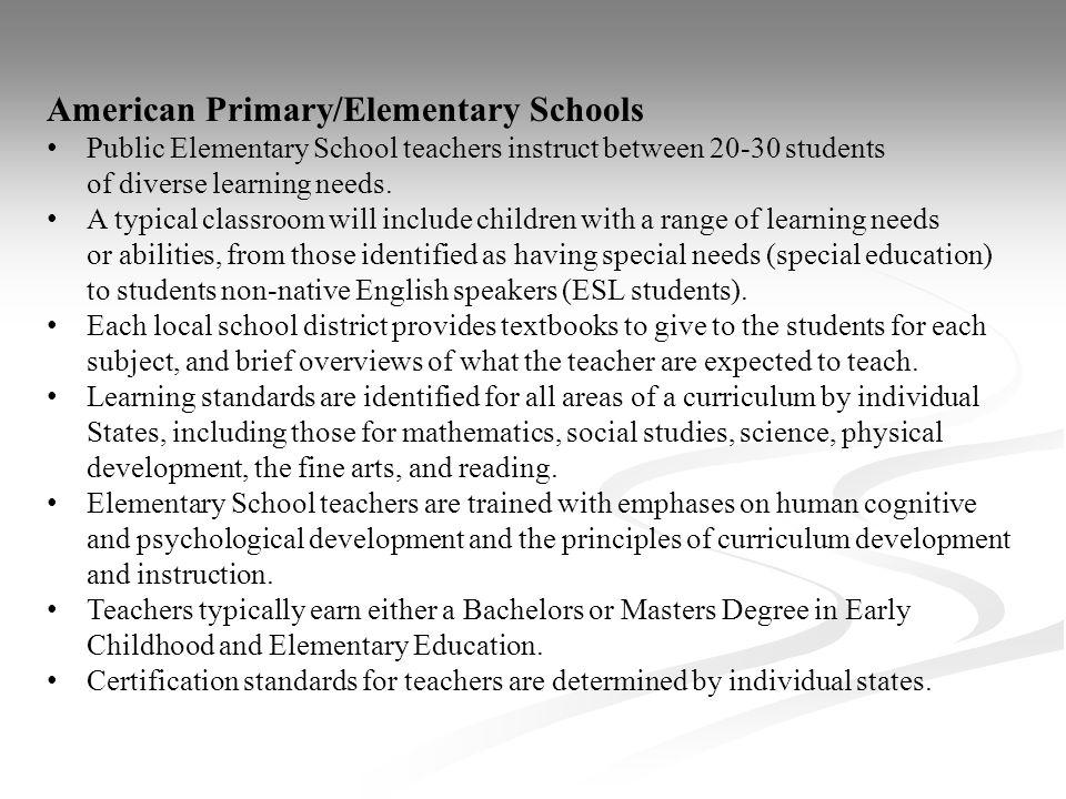 American Primary/Elementary Schools
