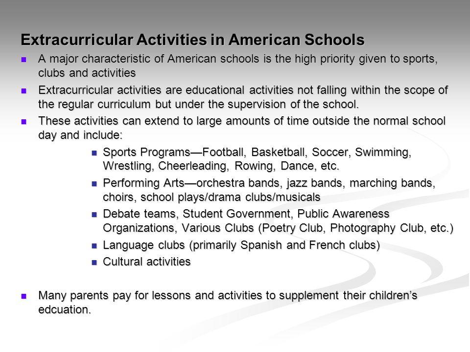Extracurricular Activities in American Schools
