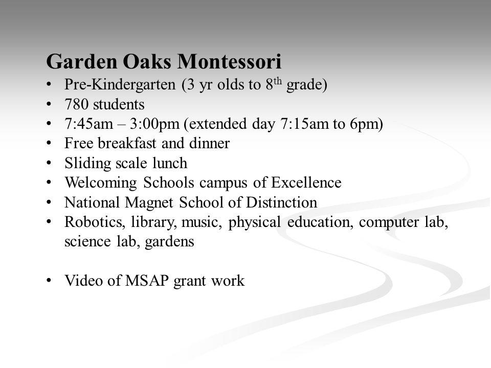 Garden Oaks Montessori