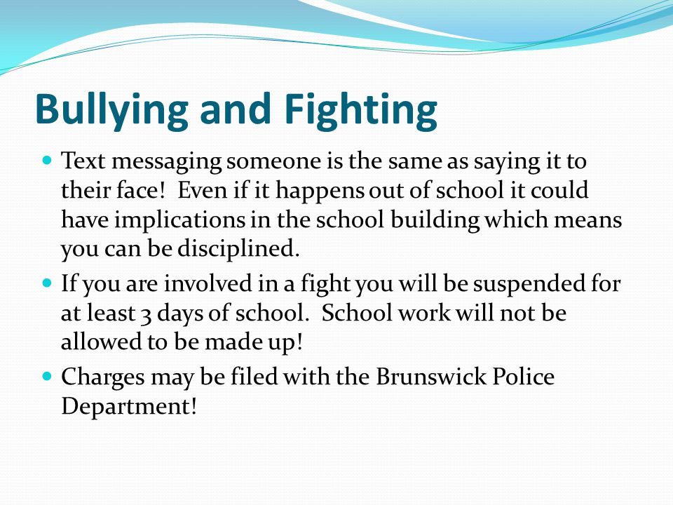 Bullying and Fighting