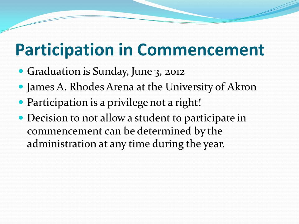 Participation in Commencement