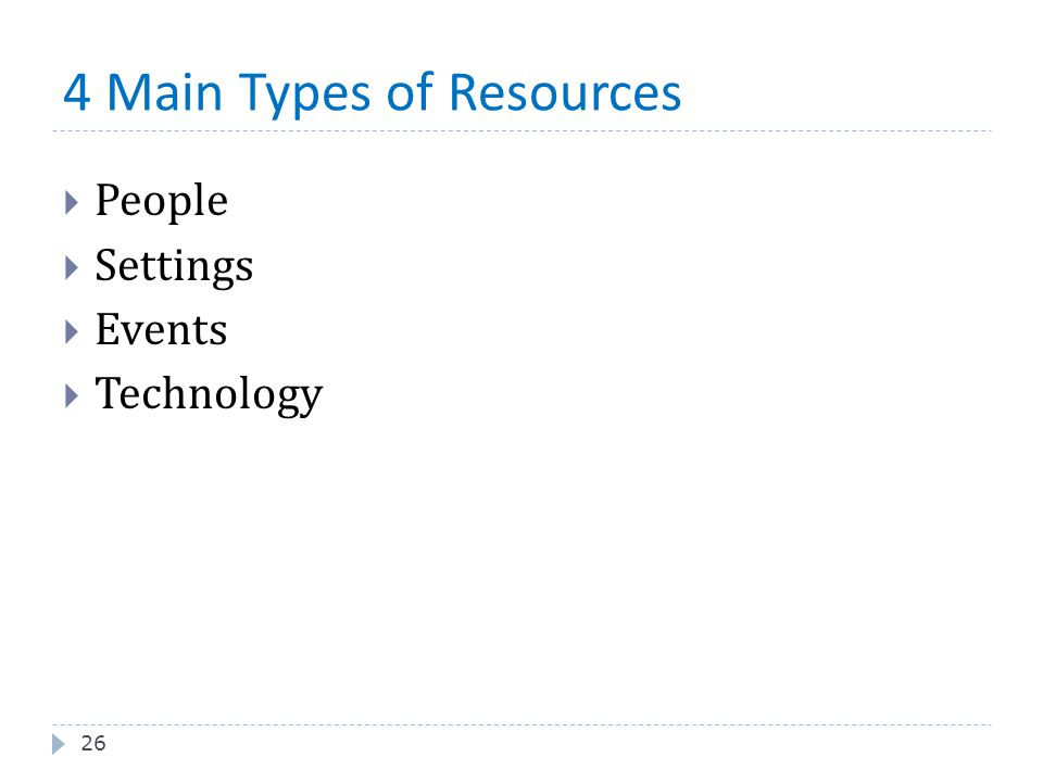 4 Main Types of Resources