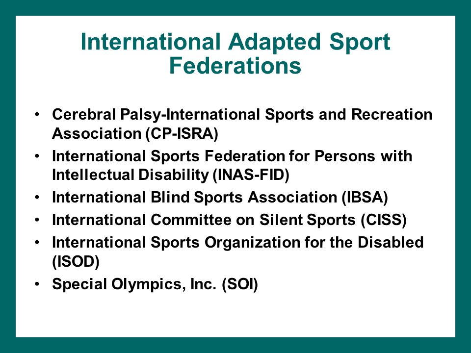 International Adapted Sport Federations